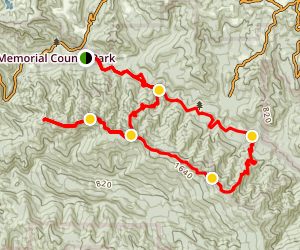 Butano Ridge Loop Trail Map