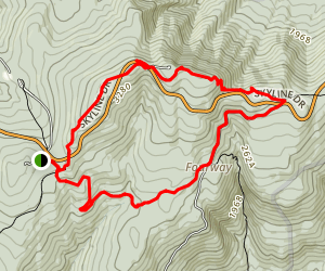Appalachian Trail: Hogback Overlook to Jenkins Gap Map