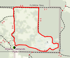 Orlando Wetlands Loop Trail Map
