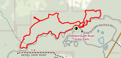 Hillsborough River via Florida Trail Map