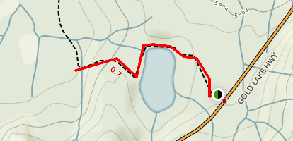 Lily Lake Trail Map