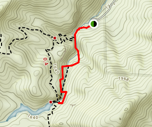Moses Spring Trail to Bear Gulch Reservoir Map