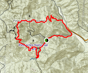 High Peaks and Bear Gulch Loop Trail Map