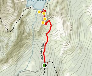 May Lake Trail Map