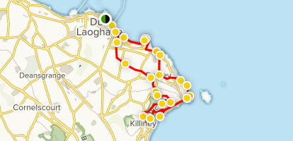 Dun Laoghaire, Dalkey, and Killiney Loop Walk Map