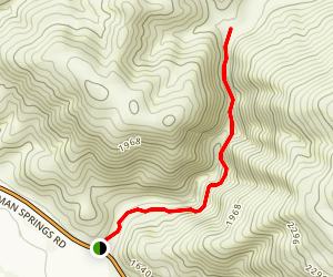 Massacre Canyon Trail Map