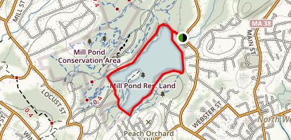 Mill Pond Reservoir Map