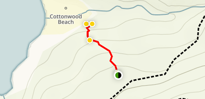 Cottonwood Beach Trail Map