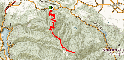 Mount El Sombroso Trail Map