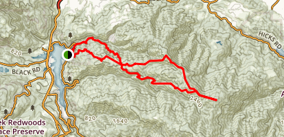 Mount Sobrso Loop Trail via Lime Kiln Trail Map