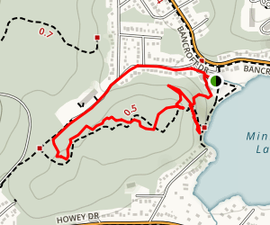 Oak Forest Walking Loop Trail Map