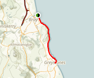 Bray To Greystones Cliff Trail Map