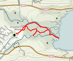 Urquhart Bay Woods to Loch Ness Map