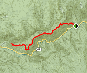 Halls Ranch to Fiddle Creek Ridge Trail Map