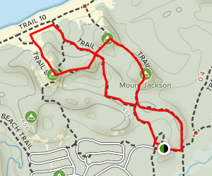 Three Peaks Loop Trail Map