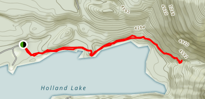 Holland Lake and Falls Map