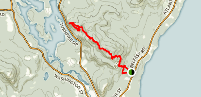 Camden Hills State Park Trail Map