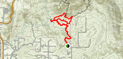 Hellhole Canyon Open Space Preserve Trails Map