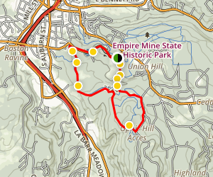 Hardrock and Osborn Hills Loop Trail Map