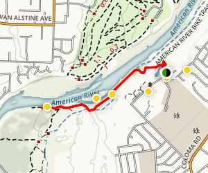 Hagan Park to the American River Trail Map