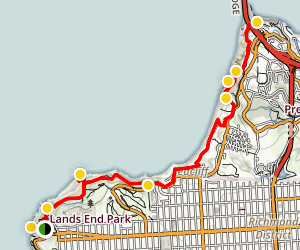 California Coastal Trail: Lands End to Golden Gate Bridge Map
