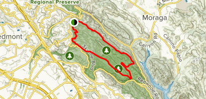 East Ridge Trail to West Ridge Trail Loop from Skyline Blvd Map