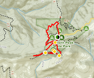Fremont Peak and Valley View Loop Trail Map