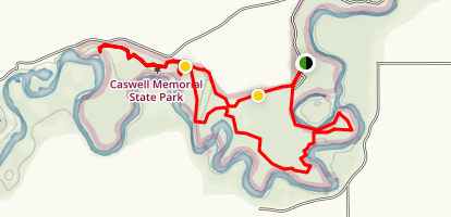 River Bend-Majestic Oaks Loop Trail Map
