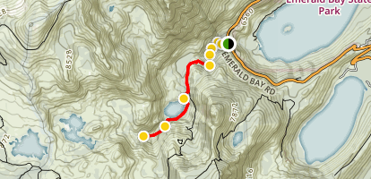 Eagle Creek Canyon Snowshoe Ski Trail Map