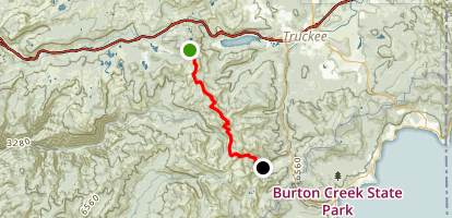 Donner Pass to Squaw Valley Via the Pacific Crest Trail Map