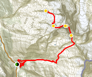 Weissmies Mountaineering Trail Map