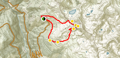 To the Arêtes des Ombrintses under the Rothorn Map