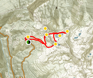 Chandolin over Illsee to the Meretschi Alp Map