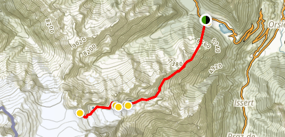 Cabanes d'Orny and Cabanes de Trient Trail Map