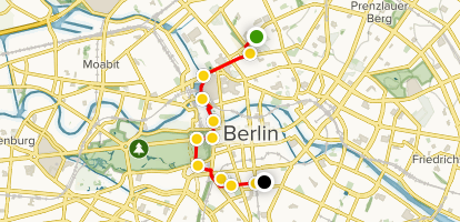 The Berlin Wall and Checkpoint Charlie Walking Tour Map