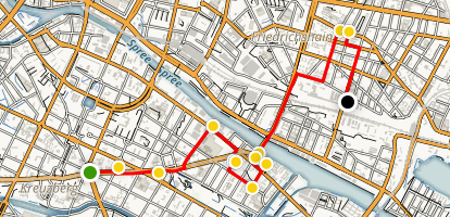 Berlin Public Art Walking Tour Map