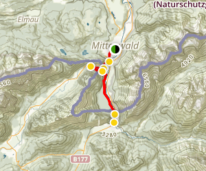Leutaschklamm Gorge Loop Map