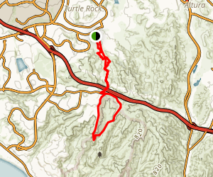 Bommer Canyon and Deer Canyon Loop Map