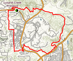 Lusardi Creek Loop Trail Map