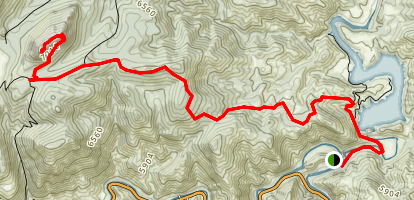 Greyrock Summit via Seaman Reservoir  Map