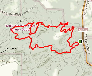 Emma Carlin Hiking Trail Map