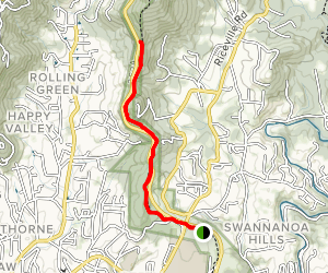Mountains-to-Sea Trail: Folk Art Center to Haw Creek Overlook Map