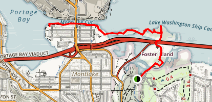 Foster Island Trail Map