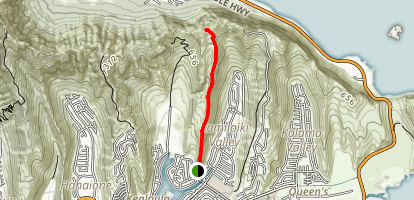 Kamilo Iki Ridge Trail Map