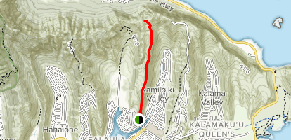 Kamilo Iki Ridge Trail (PRIVATE PROPERTY) Map