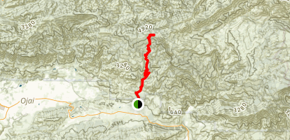 Sisar Canyon/Red Reef Trail Map