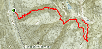 Tatoosh Ridge Trail Map