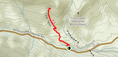 Coronado Cave Trail Map