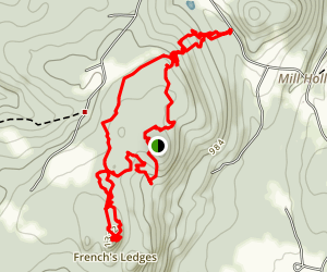 French's Ledges, NH Map