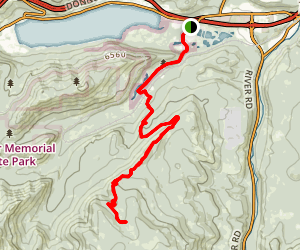 Coldstream Trail to Tinker Knob Map